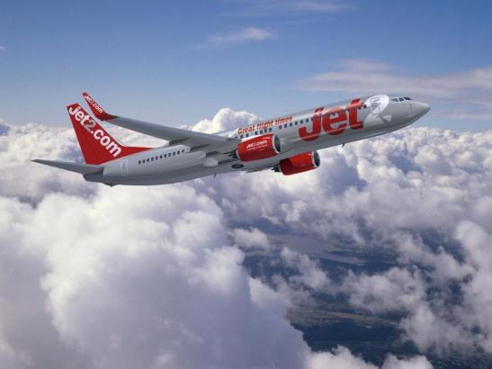 Blick auf einen Jet-2-Jet.