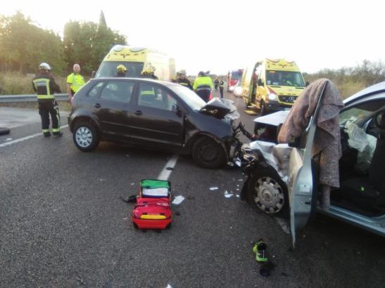 Blick auf die Unfallstelle.