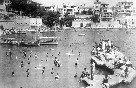 Die Badestelle von Can Barbarà in Palma, in den 1930er Jahren ein beliebter Treffpunkt für Menschen, die eine Abkühlung suchten,