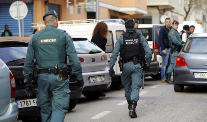 Polizeieinsatz in Son Gotleu.