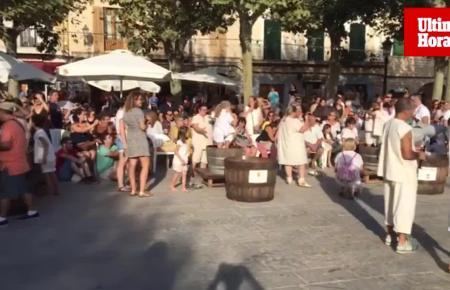 Buntes Treiben herrschte am Sonntag beim Weinfest in Binissalem.