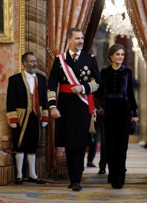 König Felipe nebst Gattin Letizia.