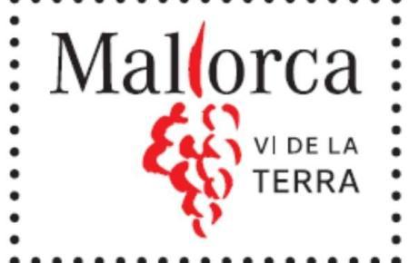 """Das ist das offizielle Logo der geographischen Herkunftsbezeichnung """"Vi de la Terra Mallorca"""" für Landweine der Insel."""