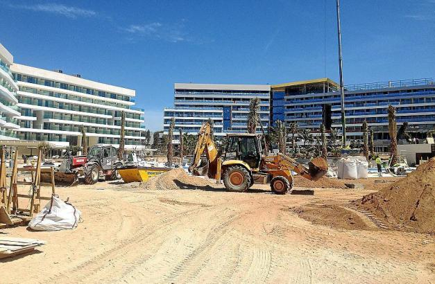 Bautätigkeit auf Mallorca.