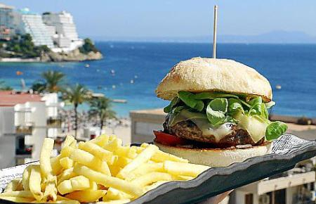 Gourmet-Burger auf Mallorca.