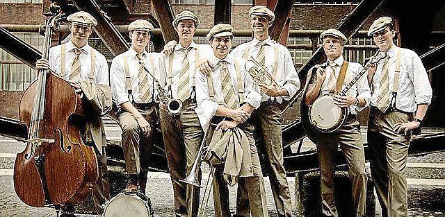 Hot Jazz spielen die Bourbon Street Stompers aus Düsseldorf.