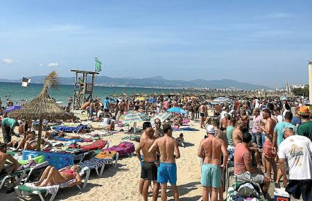 Auch im September voll: die Playa de Palma.