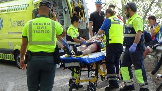 Der Holländer stürzte in einer Kurve von seinem Rad.