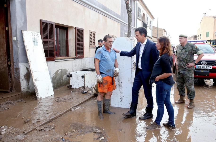 SANCHEZ VISITA ZONA AFECTADA POR LLUVIAS TORRENCIALES
