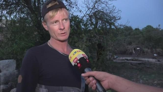 Daniel Thielk im RTL-Interview auf Mallorca.