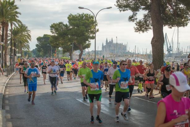 Die Laufstrecke in Palma de Mallorca.