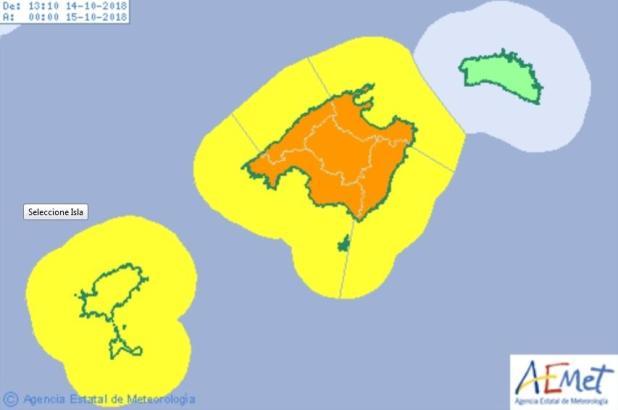 Erneute Starkregenwarnung für Mallorca.
