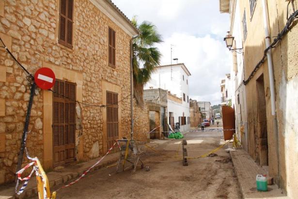 Etwas aufgeräumt wurde bereits: So sieht es derzeit in Sant Llorenç aus.