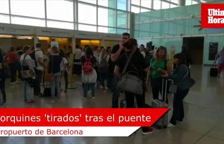 Eine Gruppe von Fluggästen aus Palma sitzt seit Sonntag auf der iberischen Halbinsel fest. Die Airline Vueling hatte ihren Rückf