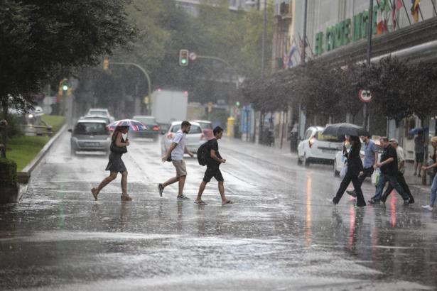 In diesen Wochen leider eher üblich: Regen in Palma.