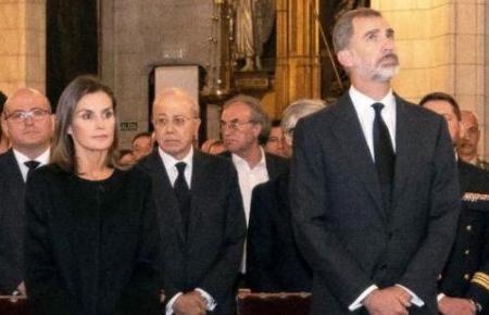 Auch das spanische Königspaar Felipe VI. und Königin Letizia nahm am Mittwochabend in Manacor an der offiziellen Trauerfeier f