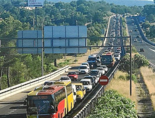 Blick auf die Andratx-Autobahn.