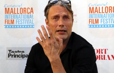 Mads Mikkelsen während der Pressekonferenz des Evolution Mallorca International Film Festivals am Freitag in Palma.