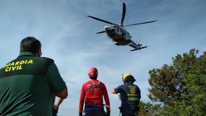 Solch ein Guardia-Civil-Helikopter wurde am Mittwoch eingesetzt.