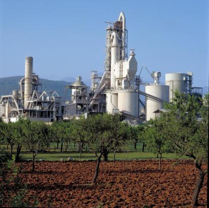 Mallorcas Zementwerk in Lloseta.