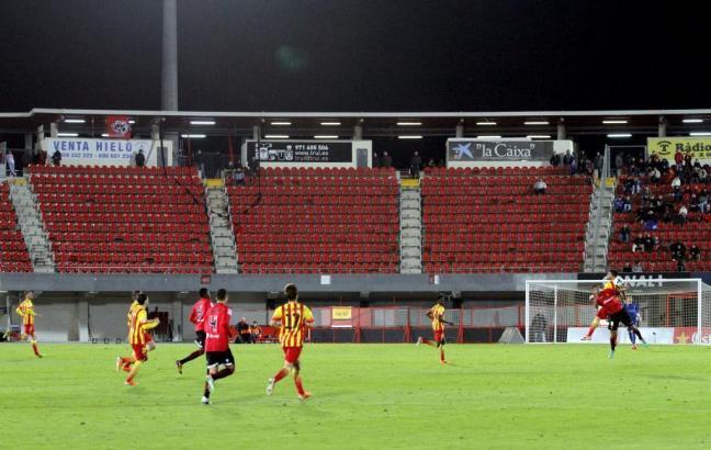 Blick auf das Stadion von Son Moix.