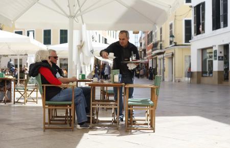 Kellnern auf Mallorca.