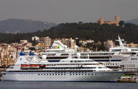 Saubere Luft im Hafen von Palma de Mallorca.
