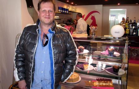 Jens Büchner vor zweieinhalb Jahren im Café Katzenberger in Santa Ponça.
