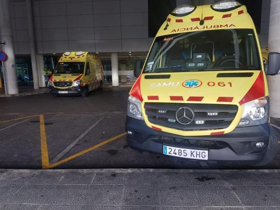 Krankenwagen im Einsatz.