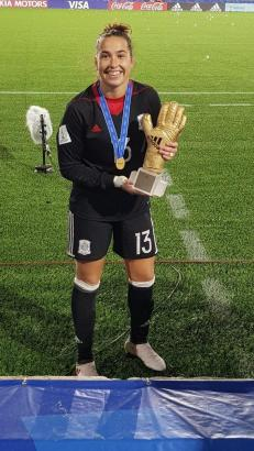 Cata Coll wurde auch als beste Torhüterin der WM geehrt.