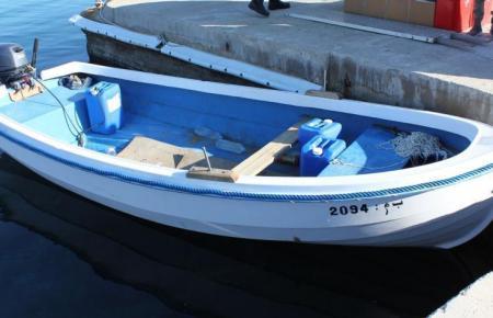 Blick auf ein Flüchtlingsboot.
