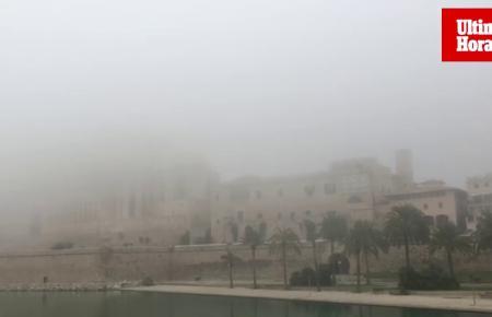 Ungewöhnlich dichter Nebel hüllte am Mittwoch Palma ein.
