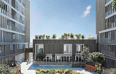 Das Bauprojekt des Madrider Unternehmens sieht auch Pools auf den Dach vor.