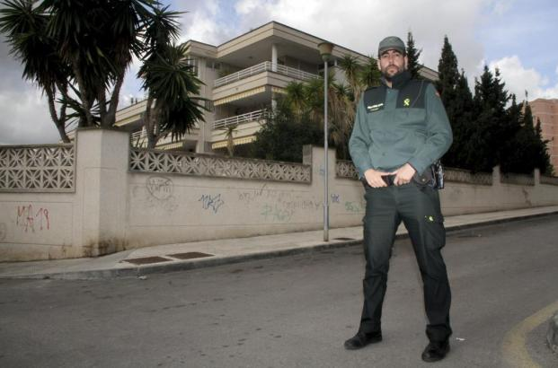 Polizist der Guardia Civil in Palmanova.