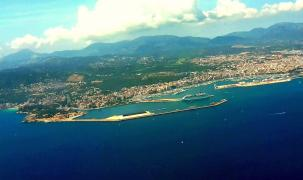 Palmas Hafen aus der Luft