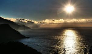 Sonnenuntergang vor der Westküste