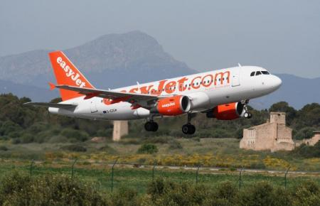 Flugzeug der Airline Easyjet.