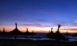 Blaue Stunde an der Playa de Palma