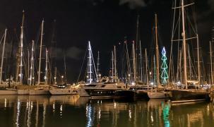 Palmas Hafen zur Weihnachtszeit