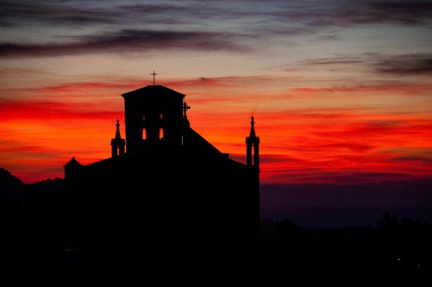 Faszinierender Sonnenuntergang auf Mallorca.