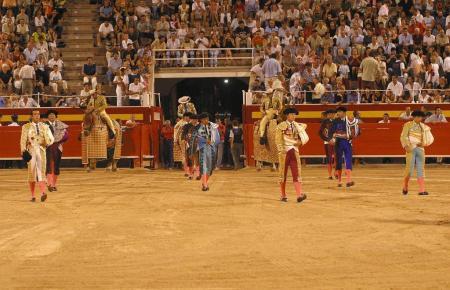 Toreros im Coliseo Balear in Palma.