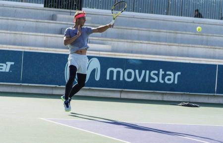 Rafael Nadal auf dem Gelände seiner Akademie in Manacor.