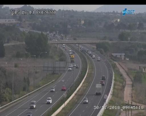 Der Unfall ereignete sich auf der Inca-Autobahn bei Marratxí.