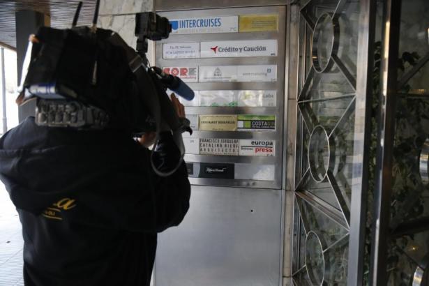 Die Polizei drang unter anderem in die Räume von Europa Press in Palmas Innenstadt ein und konfiszierte dort Geräte.
