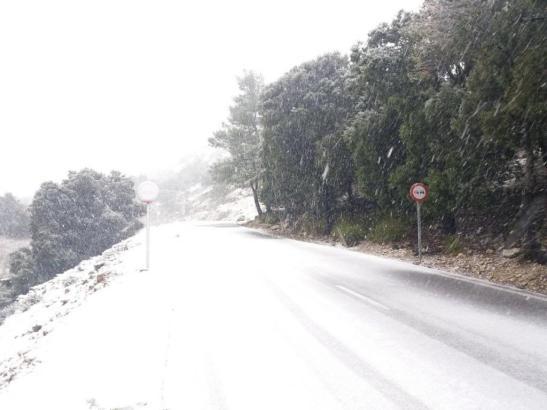 Schnee auf Mallorca im Februar 2018.