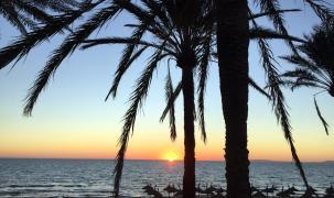 Klaus Rogge fing den Sonnenuntergang an der Playa de Palma ein.