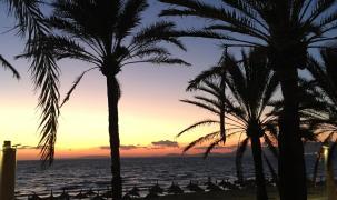 Sonnenuntergang an der Playa de Plama, aufgenommen von Klaus Rogge.