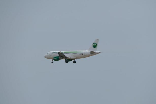 Germania-Flieger im Anflug auf Palma.