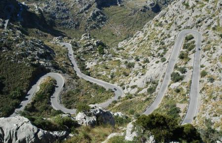 Die Straße nach Sa Calobra.
