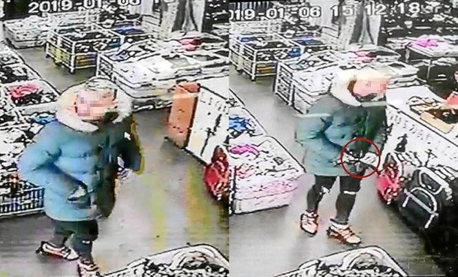 Kamera-Aufnahmen des Verdächtigen beim Überfall auf einen China-Laden in Palma de Mallorca.
